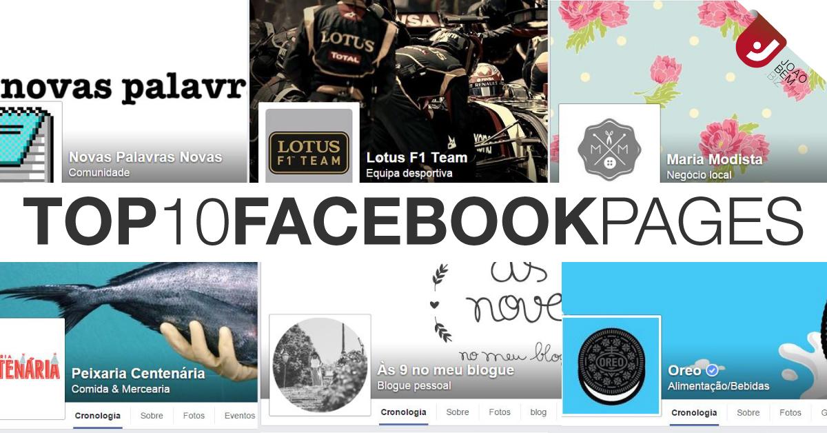 top paginas facebook