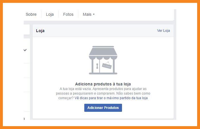 loja de Facebook